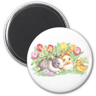 Bunnies & Chick, Easter Bunny Magnet