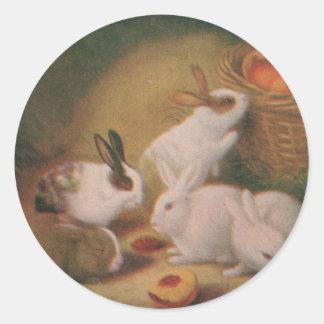 Bunnies Classic Round Sticker
