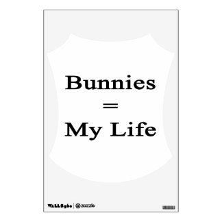Bunnies Equal My Life Wall Decor