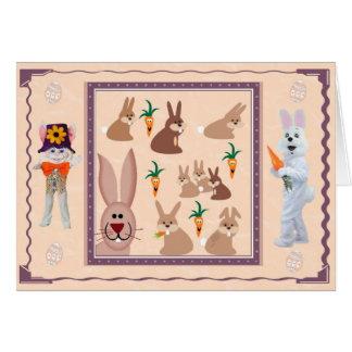 Bunnies galore card
