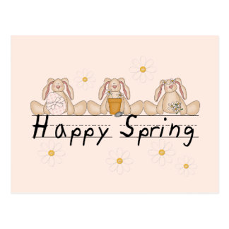 Bunnies Happy Spring T-shirts and Gifts Postcard