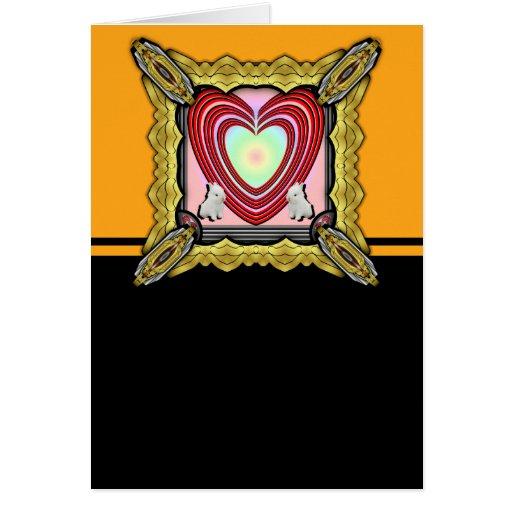 Bunnies Heart Frame Big Cards