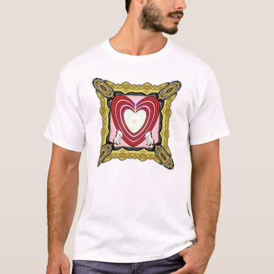 Bunnies Heart Frame Big T-Shirt