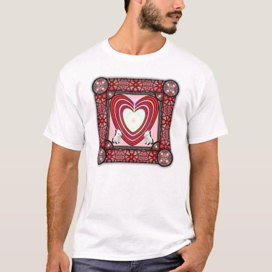 Bunnies Heart Frame Big T-Shirt