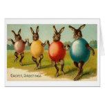 Bunnies in Eggshells! Vintage Easter Card