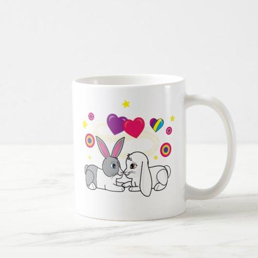 Bunnies in Love Classic White Coffee Mug