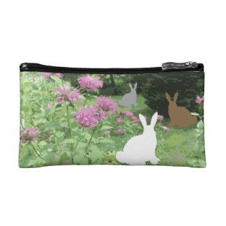 Bunnies in the Garden Makeup Bag