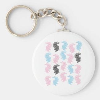 Bunnies Key's Basic Round Button Keychain