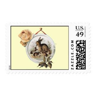 bunnies postage stamp
