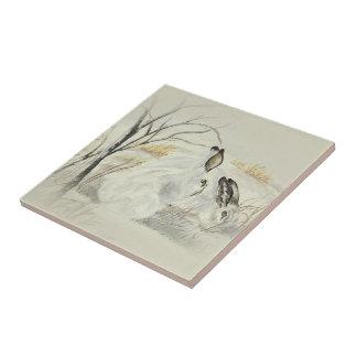 Bunnies / Rabbits Ceramic Tile