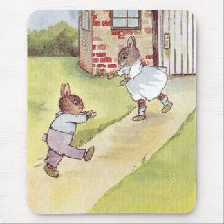 Bunnies Reunion Mouse Pad