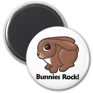 Bunnies Rock! Fridge Magnets