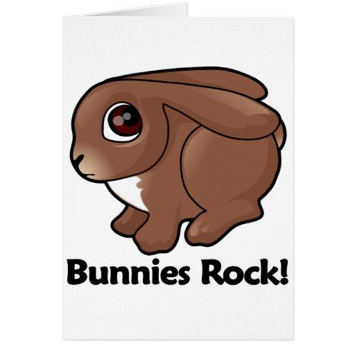 Bunnies Rock! Greeting Cards