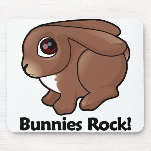 Bunnies Rock! Mouse Pad