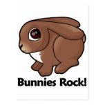 Bunnies Rock! Postcard