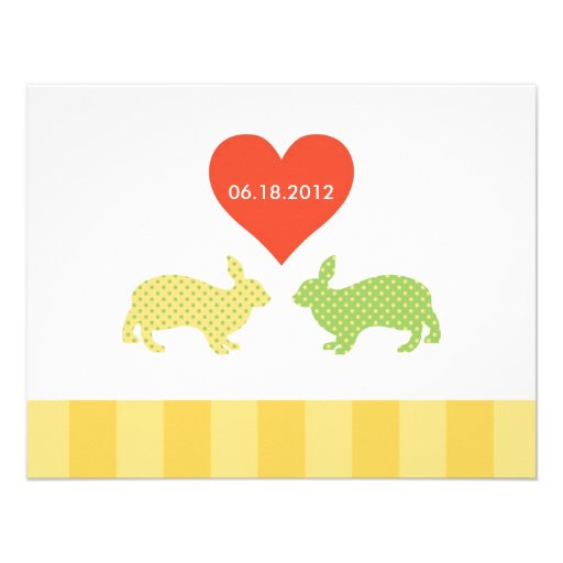Bunnies Save the Date Announcement
