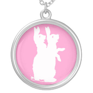 Bunnies Silver Plated Necklace