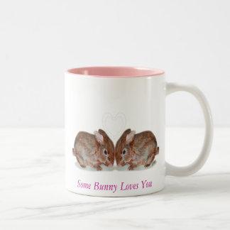 bunnies, Some Bunny Loves You Coffee Mug