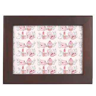 Bunnies with pink stuff memory box