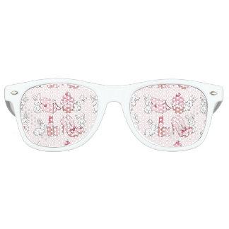 Bunnies with pink stuff retro sunglasses