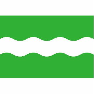 Bunnik, bandera holandesa fotoescultura vertical