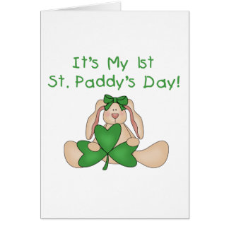 Bunny 1st St. Patrick's Day Tshirts and Gifts Card