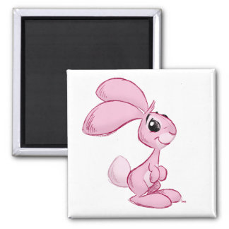 bunny 2 inch square magnet