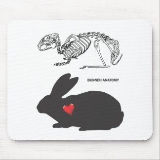 Bunny Anatomy Mouse Pad