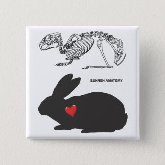 Bunny Anatomy Pinback Button