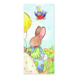bunny and balloon birthday invite
