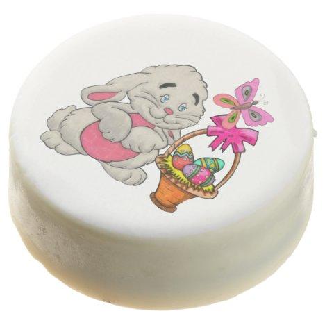 Bunny and Basket Chocolate Covered Oreo