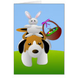 Bunny and Beagle Easter Card