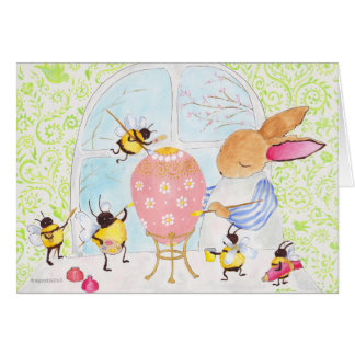 bunny and bees card
