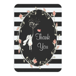 Bunny and Birdy Thank You Card