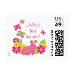 Bunny and Butterflies Girl's Birthday Postage