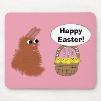 Bunny and Chick Easter Mousepad