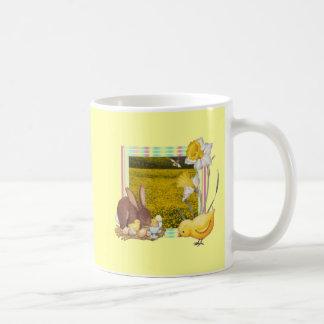 Bunny and chick mugs