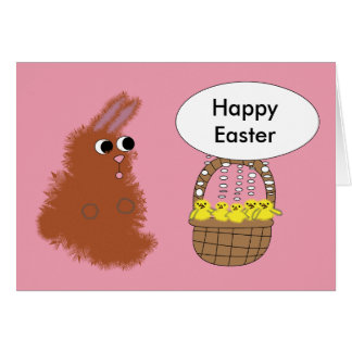 Bunny and chicks Easter card