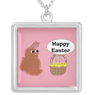Bunny and Chicks Easter  Necklace