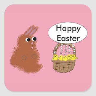 Bunny and Chicks Easter Sticker