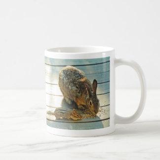 Bunny and Chipmunk Sharing Classic White Coffee Mug