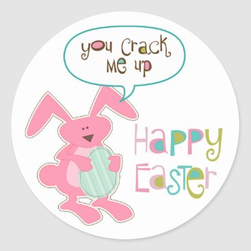 Bunny and Egg Easter Classic Round Sticker