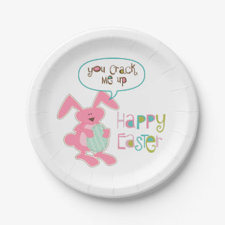 Bunny and Egg Easter Paper Plate