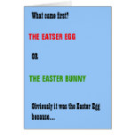 Bunny and Egg Funny Easter Card
