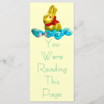 Bunny and Eggs Bookmark Template