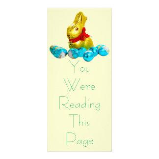 Bunny and Eggs Bookmark Template Rack Card