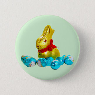 Bunny and Eggs Button