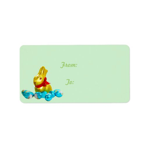 Bunny and Eggs Gift Tag Custom Address Labels