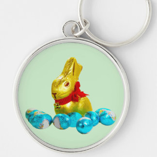 Bunny and Eggs Keychain
