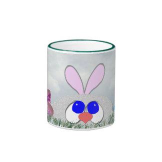 Bunny and Eggs Ringer Coffee Mug